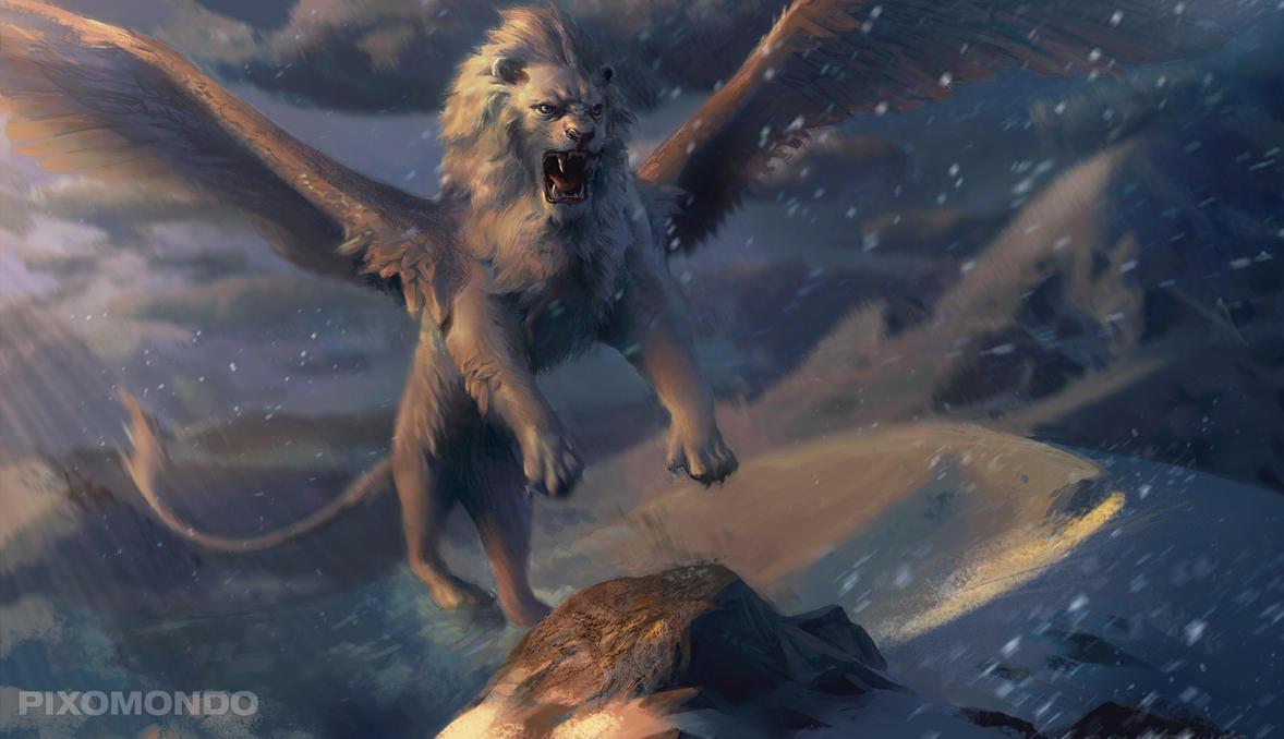 Snow Lion by Gworld