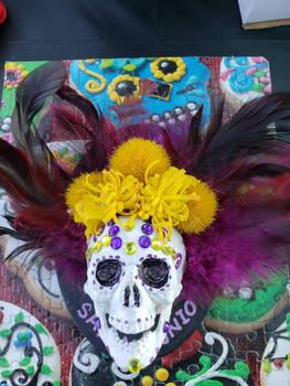 dia de los muertos sugar skull magnet