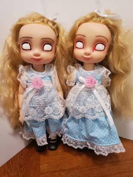 the Grady Twins from the shining ooak 16inch dolls