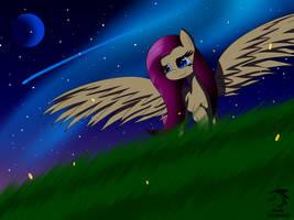 MLP Fluttershy at night by MechatheTecha