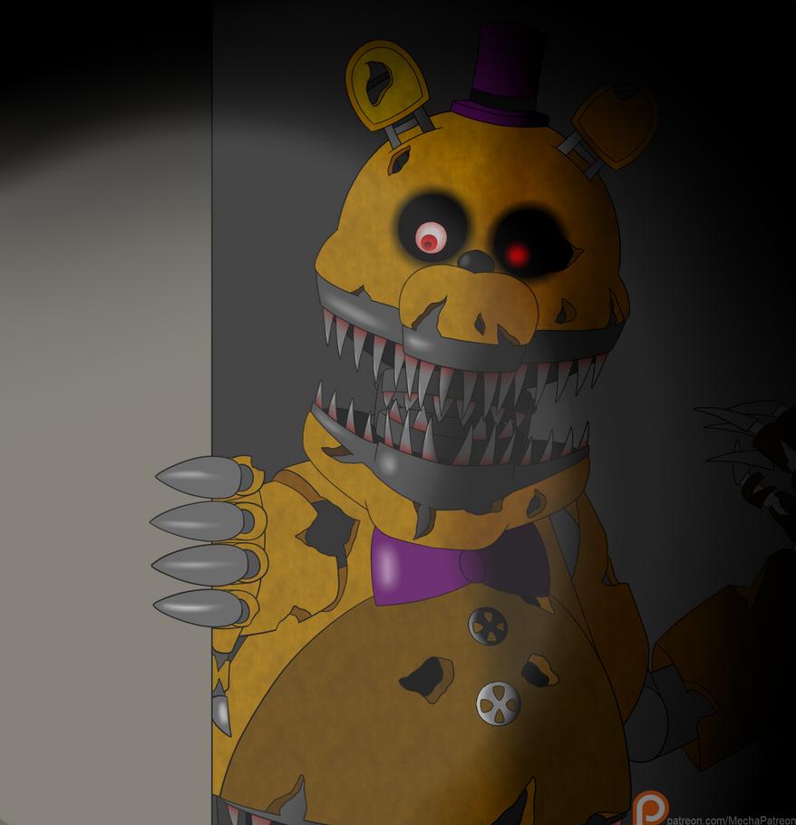 Fnaf nightmare fredbear by mechanized515 on deviantart