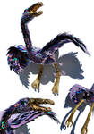 The enormous purple bird