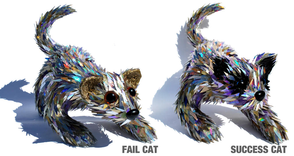 Fail Cat and Success Cat by SeanAvery