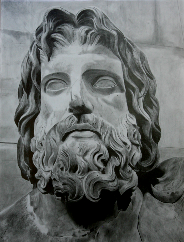 Zeus Line Drawing : Statue of zeus drawing imgkid the image kid