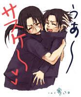 Cute hug - itachi and sasuke by NatachiXD