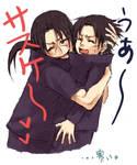 Cute hug - itachi and sasuke