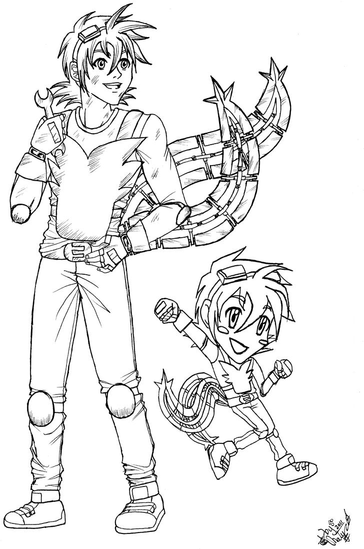 Human tails mechanic outfit by natachixd on deviantart for Mechanic coloring pages