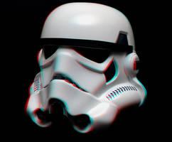 Trooper helmet in 3-D by MVRamsey