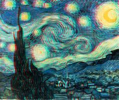 Starry Night 3-D by MVRamsey