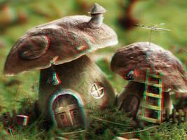 Mushroom Houses 3-D