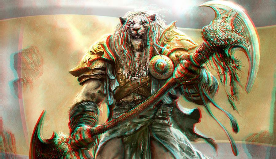 Deviantart Lion Warrior: Lion Warrior 3-D By MVRamsey On DeviantArt