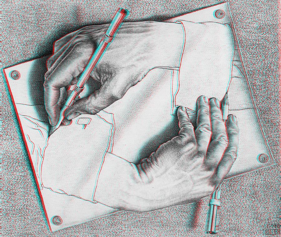 Drawing Hands 3-D