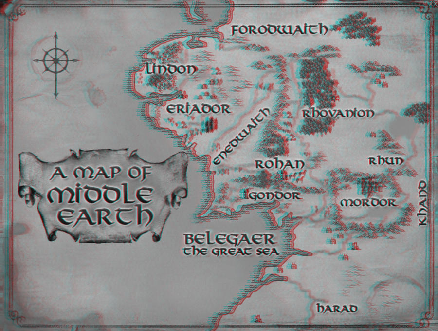Map of Middle Earth 3D by MVRamsey on DeviantArt – 3d Map of Middle Earth