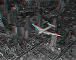 DC-4 over Manhattan 3-D conversion