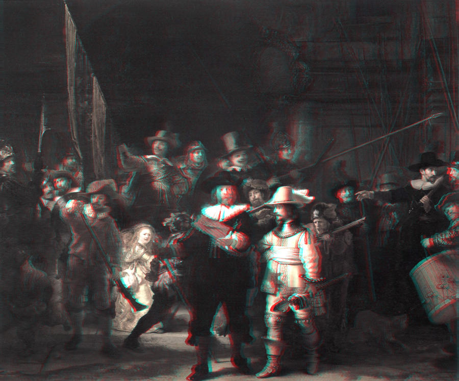 Rembrandt's The Night Watch 3-D conversion by MVRamsey