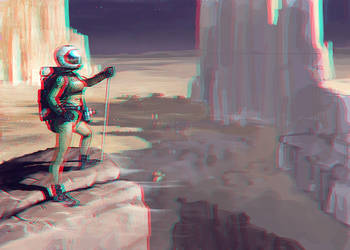 Brave Astronaut 3-D conversion by MVRamsey