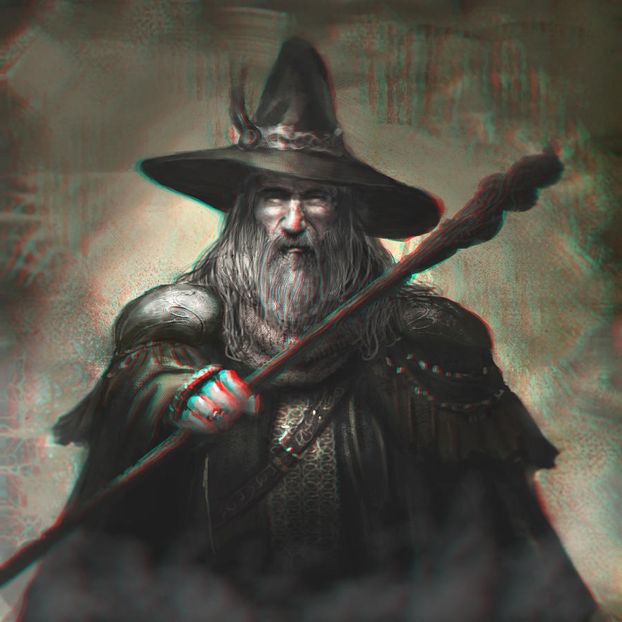 Gandalf the Grey 3-D conversion by MVRamsey
