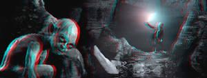 In Gollum's Cave 3-D conversion