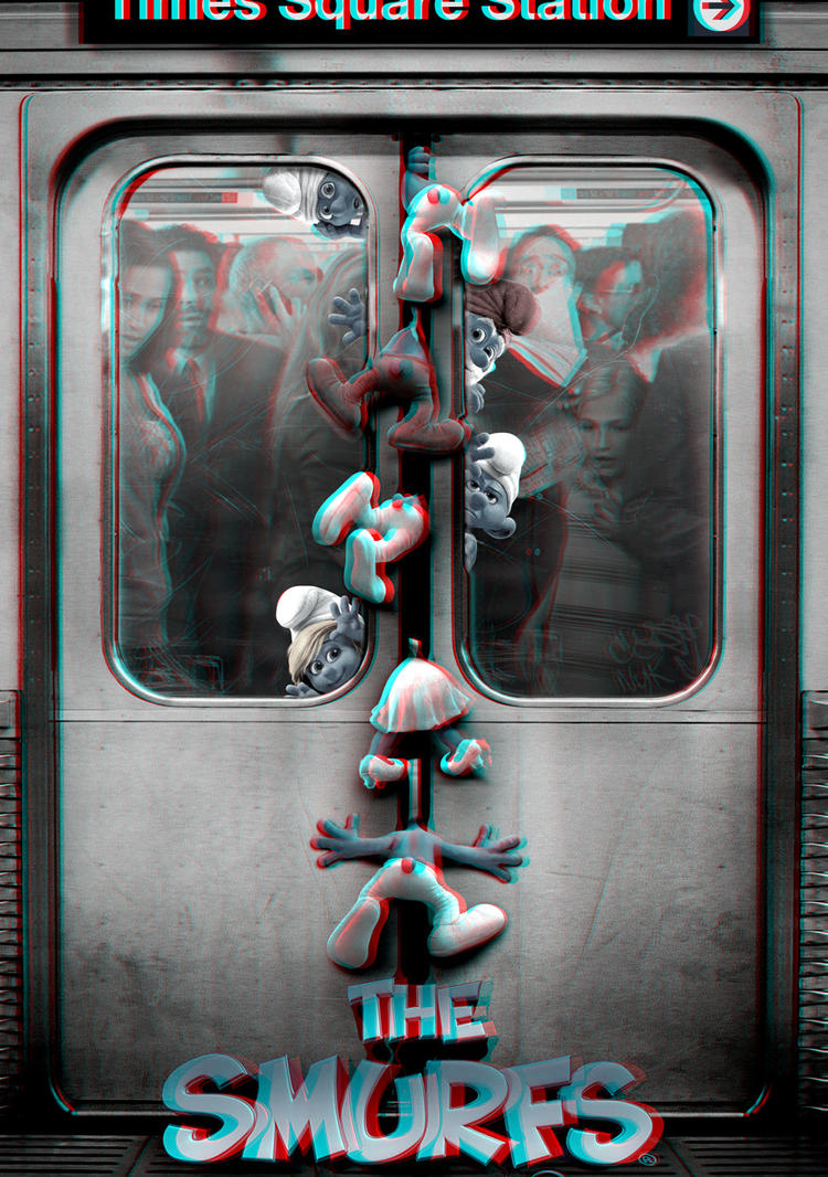 Subway Smurfs 3-D conversion by MVRamsey