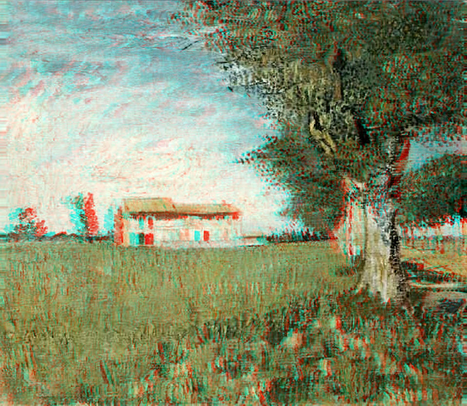 Farmhouse in Wheatfield 3-D conversion by MVRamsey