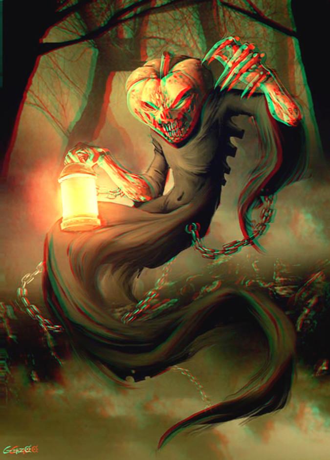 Jack O Lantern 3-D conversion by MVRamsey