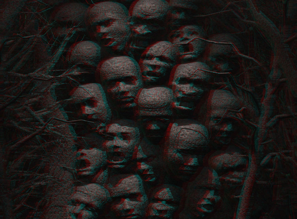 Creepy Wall 3-D conversion by MVRamsey