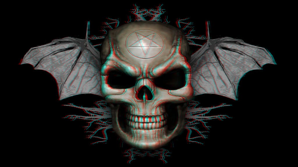 Winged Demon Skull 3-D conversion by MVRamsey