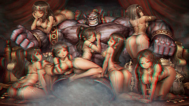 The Genie's Harem 3-D conversion by MVRamsey