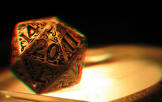Dungeons and Dragons Dice 3-D conversion