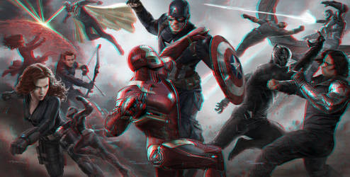 Captain America: Civil War 3-D conversion by MVRamsey
