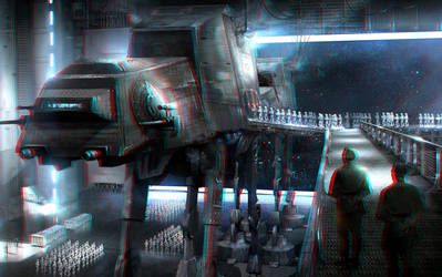 Troops on the Move 3-D conversion by MVRamsey