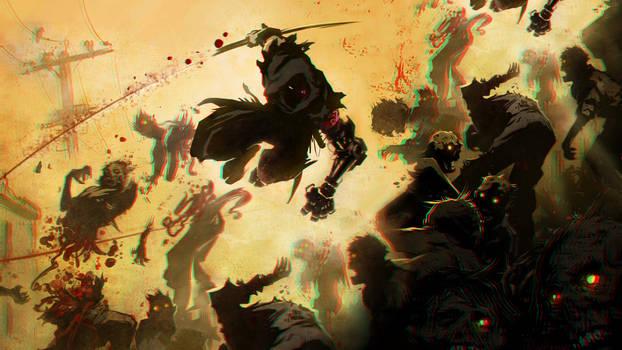 Ninja vs Zombies 3-D conversion by MVRamsey