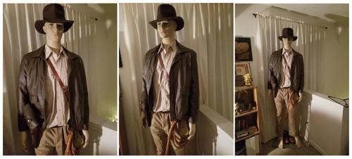 My Indiana Jones costume display