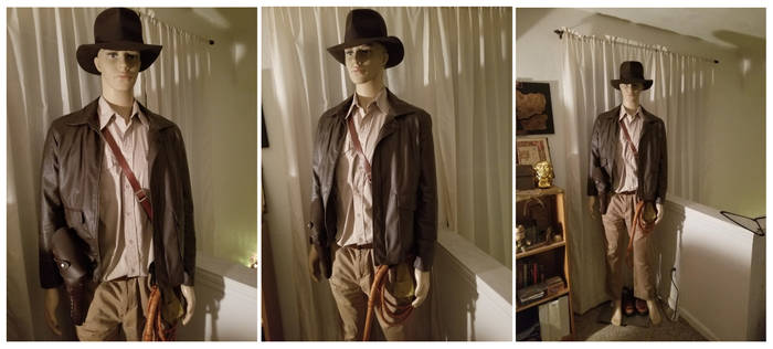 My Indiana Jones costume display