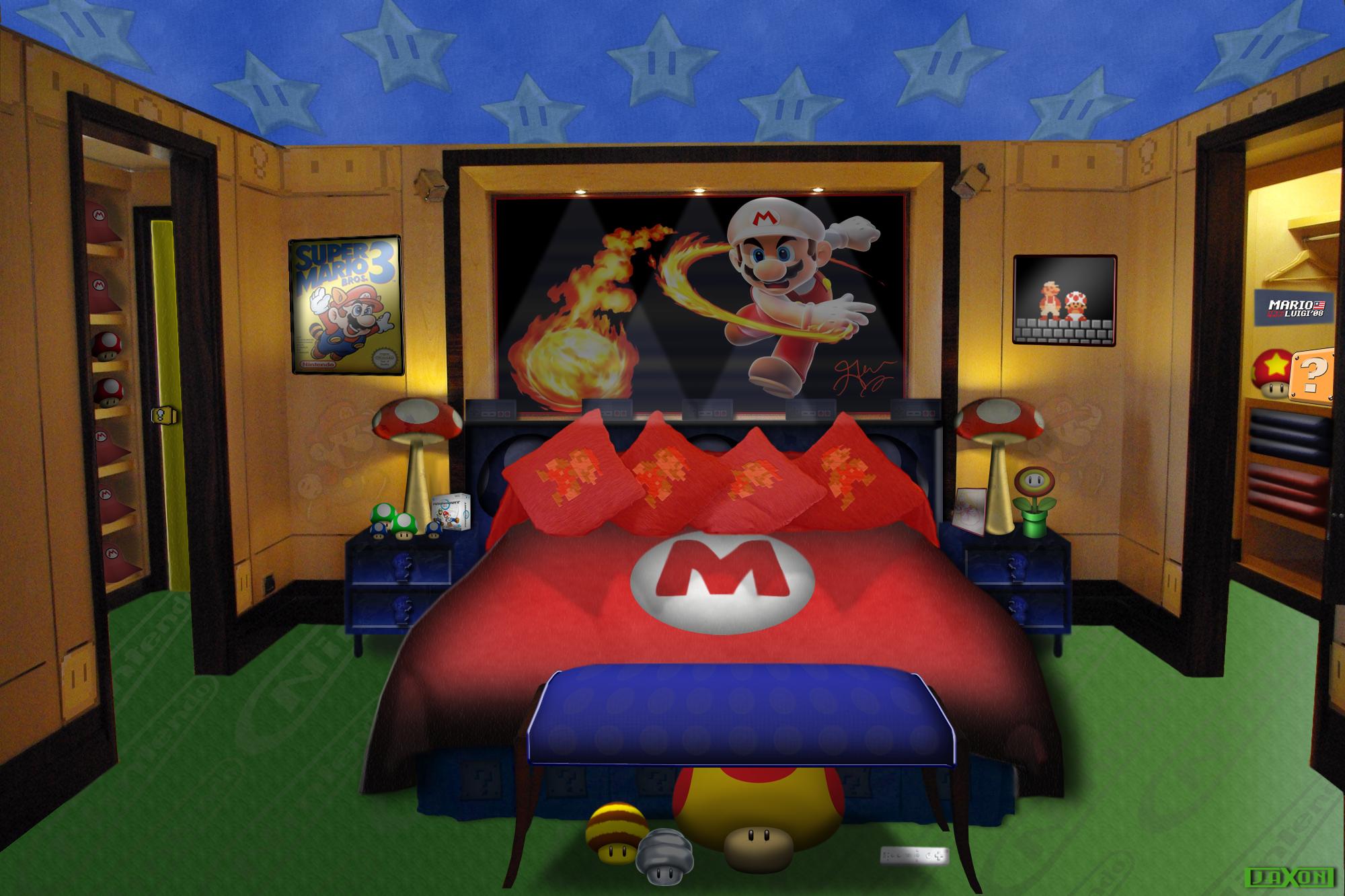 Mario themed bedroom