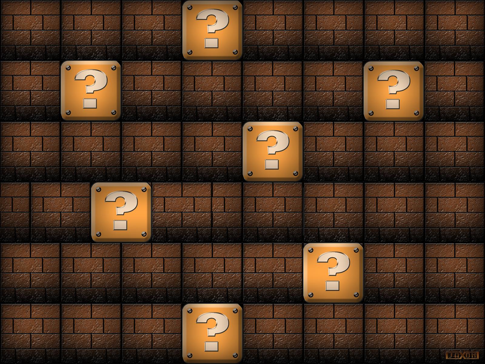Mario blocks wallpaper by jayjaxon on deviantart Block wallpaper