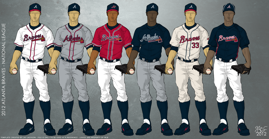 buy popular 30254 eaedf What happened to the red jerseys? : Braves