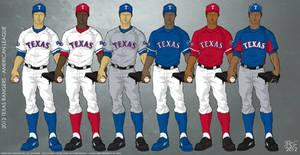 Texas Rangers 2012 Uniforms by JayJaxon