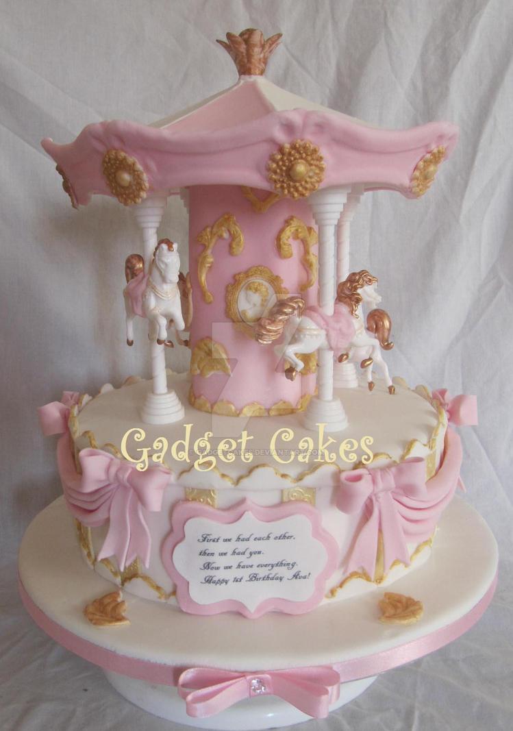 Beautiful Carousel Cake by gadgetcakes