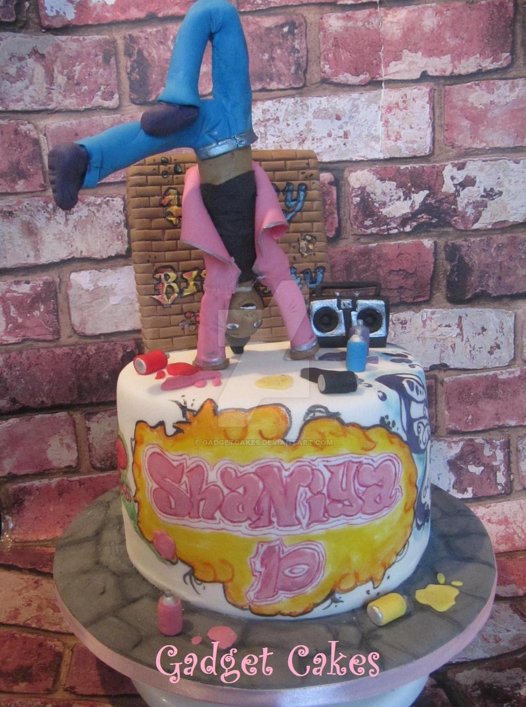 Cake Street Artist : Street Dance / Graffiti Cake by gadgetcakes on DeviantArt