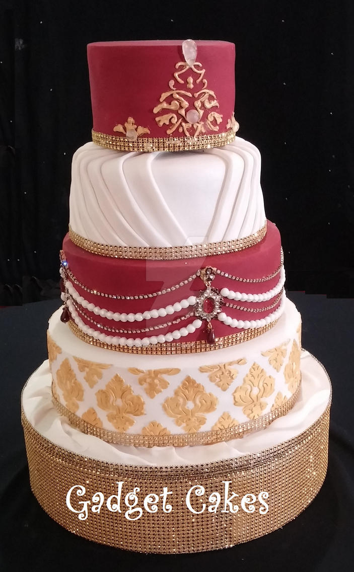 Indian Wedding Cake By Gadgetcakes On Deviantart