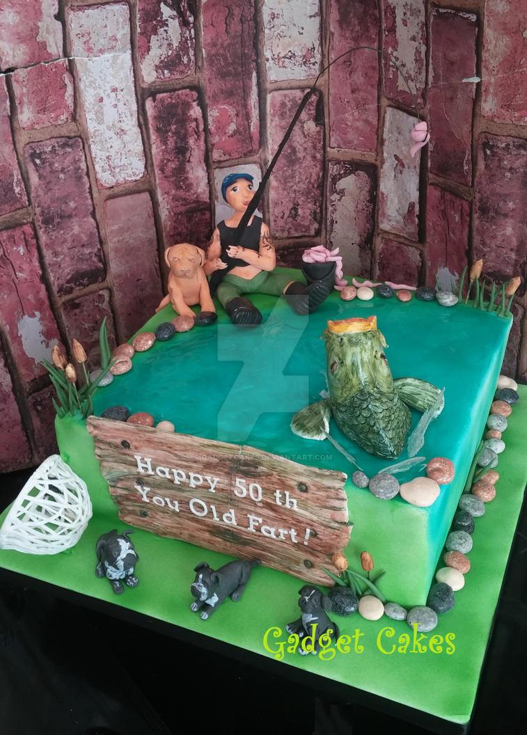 Fishing Cake By Gadgetcakes On Deviantart