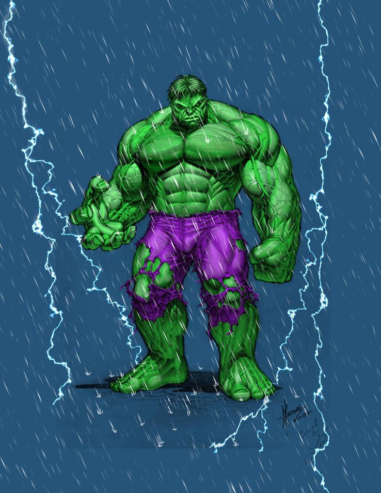 First comic color Hulk lightning by leotreto on DeviantArt