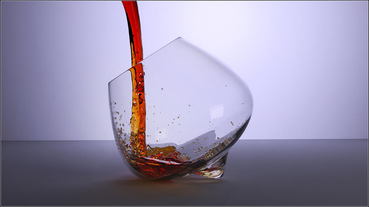 Tipped Glass and Fluid by fram1963