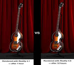 Hofner Violin Bass - Before and After by fram1963