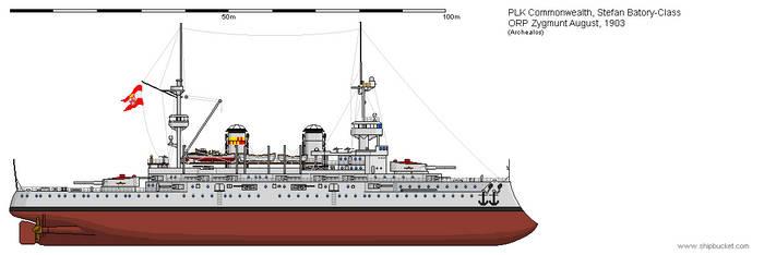 B ORP Zygmunt August 1903 by Herakleides