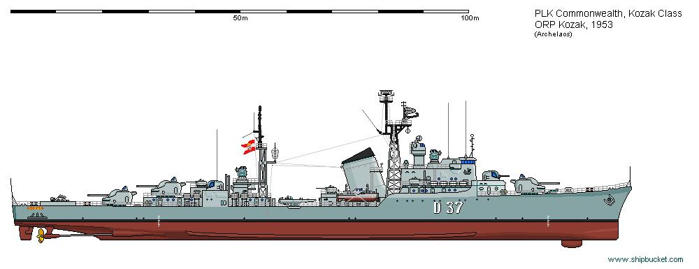DD ORP Kozak 1953 by Herakleides