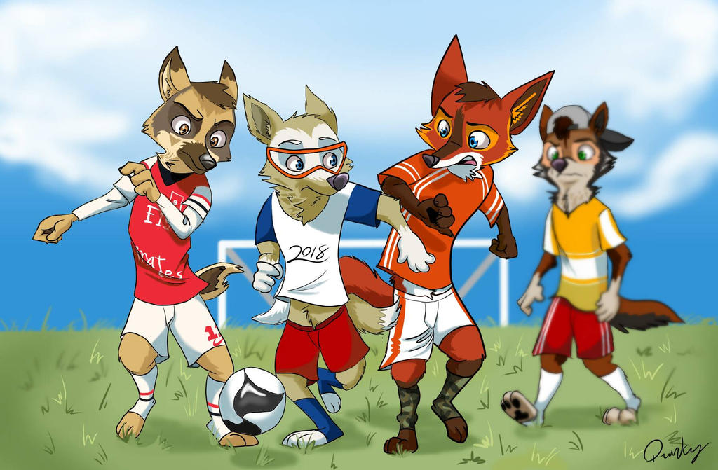 Football Match by Quirky-Middle-Child