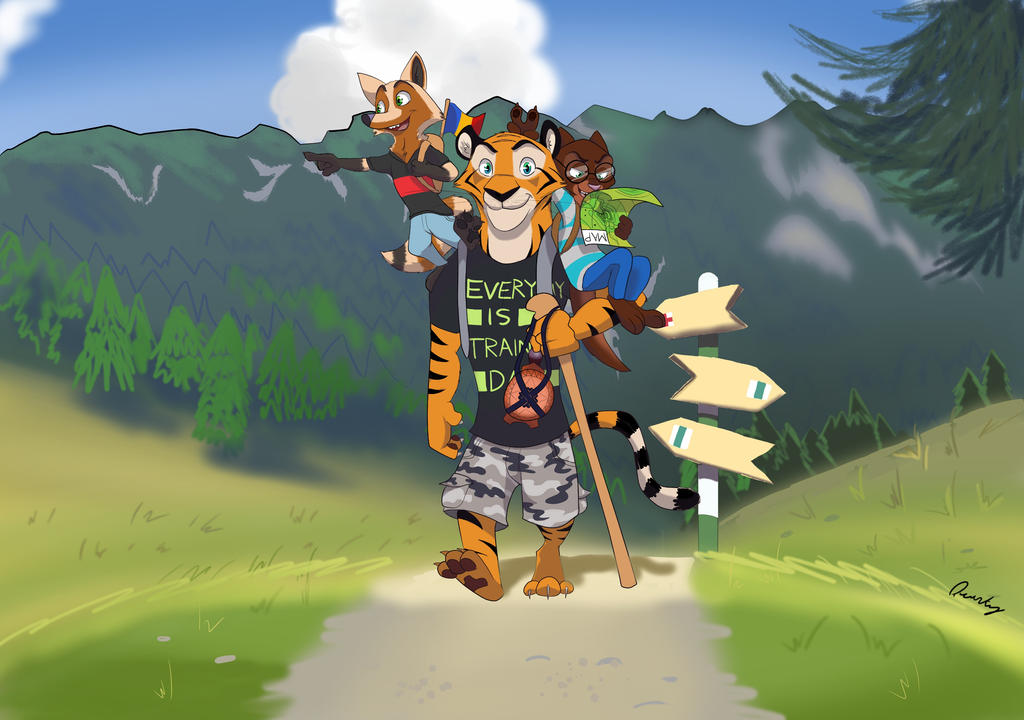 Nature Walk (commission) by Quirky-Middle-Child
