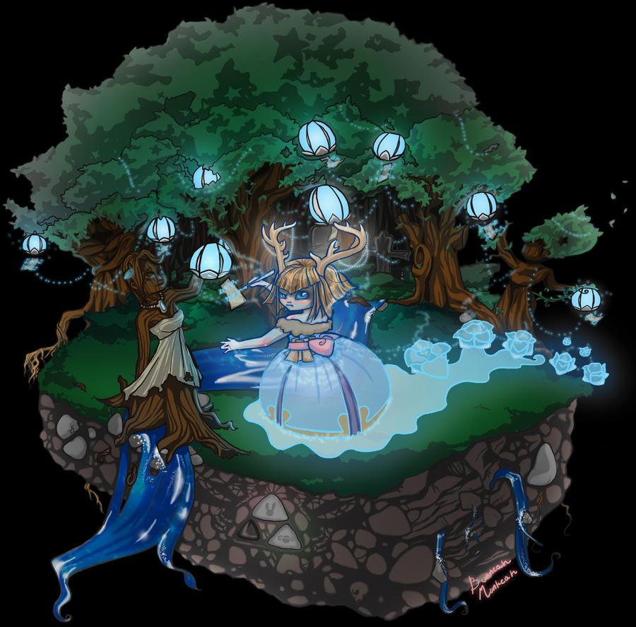 Haunted Magical Island by Bunneahmunkeah